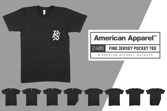 American Apparel 2406 Pocket T-Shirt