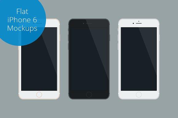 Download Flat iPhone 6 Mockup