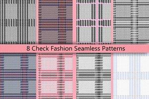 8 Check Seamless Patterns
