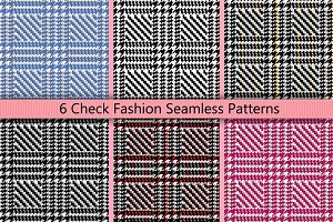 6 Check Seamless Patterns