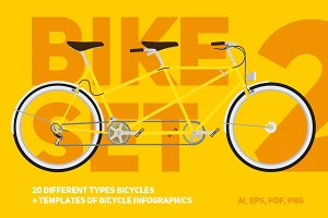 Bicycle set 2 | bicycle infographics