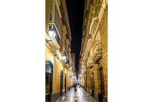 Narrow street in the old town of Cadiz - Spain