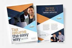 A4 Tax Service Poster Template