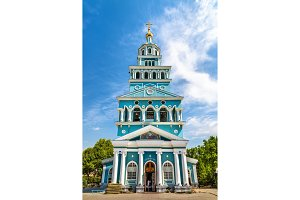 Dormition Cathedral of Russian Orthodox Church in Tashkent - Uzbekistan