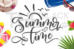 Summer Time SVG DXF PNG EPS