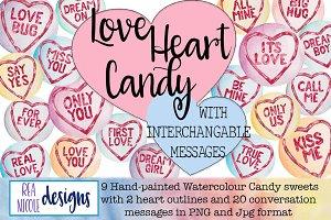 Love Heart Candy Clip Art