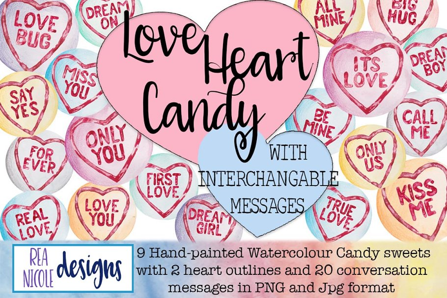 Love Heart Candy Clip Art