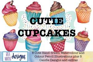 Cutie Cupcakes Clip Art Pack