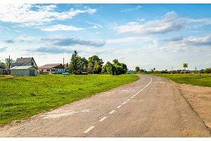 Road in Ostanino village - Kursk region, Russia