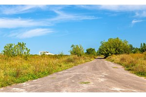 Typical rural landscape of Kursk region, Russia