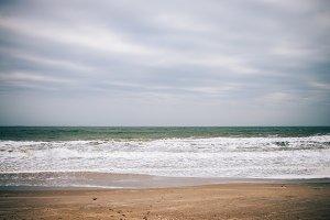 Minimalistic landscape of the sea