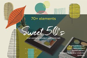 Sweet 50's! Vintage pattern set.