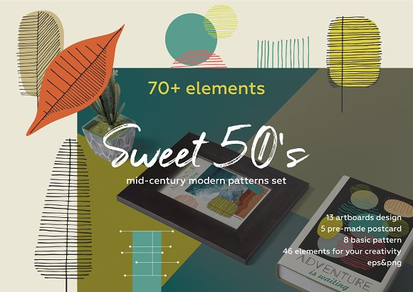 Sweet 50's! Vintage pattern set.