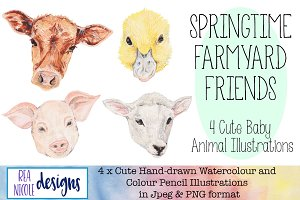 Springtime Farmyard Friends