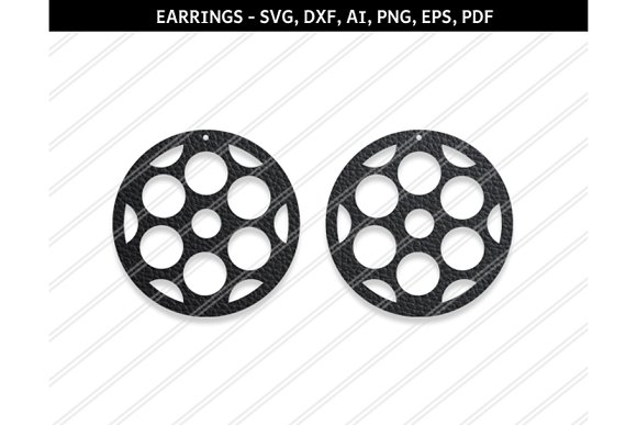 Floral Earrings Svg Dxf Ai Eps Png