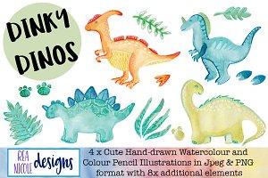 Dinky Dinosaurs Clip Art
