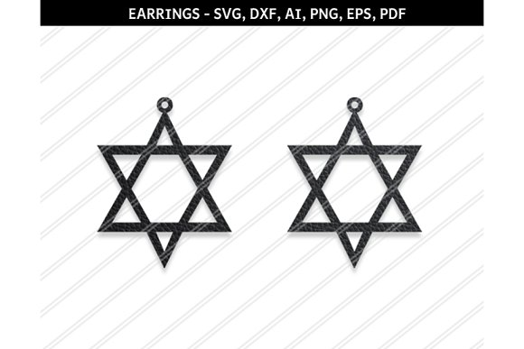 Star Earrings Svg Dxf Ai Eps Png