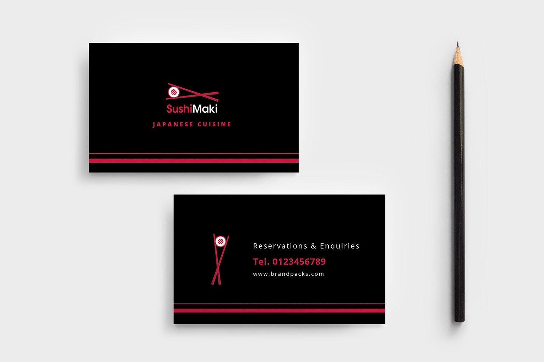 Sushi Restaurant Business Card ~ Business Card Templates ~ Creative ...