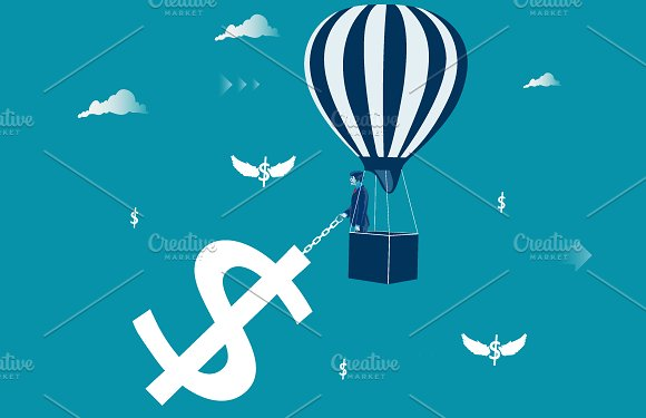 Financial Success Metaphor Vector