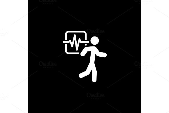 Cardio Workout And Medical Services Icon