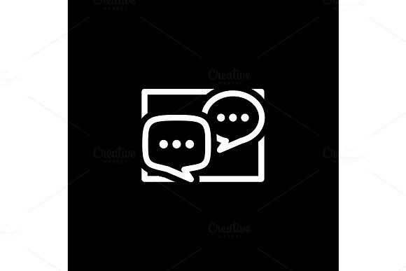 Discussion Board Icon Business Concept Flat Design