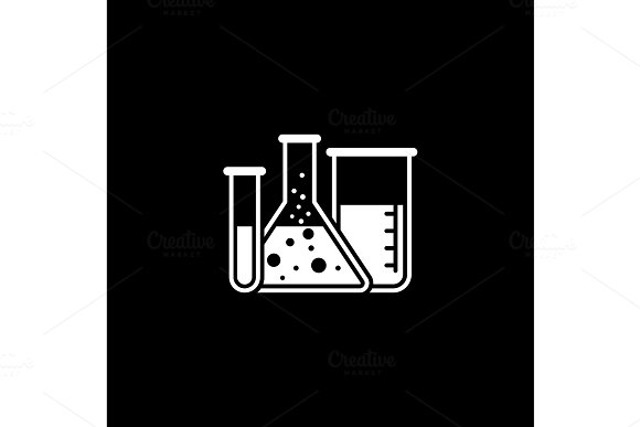 Laboratory And Medical Services Icon Flat Design
