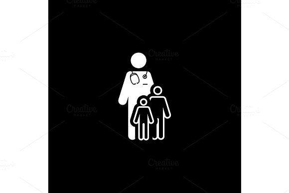 Child Care And Medical Services Icon Flat Design