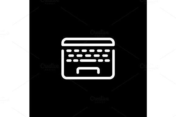 Laptop Icon Business Concept Flat Design