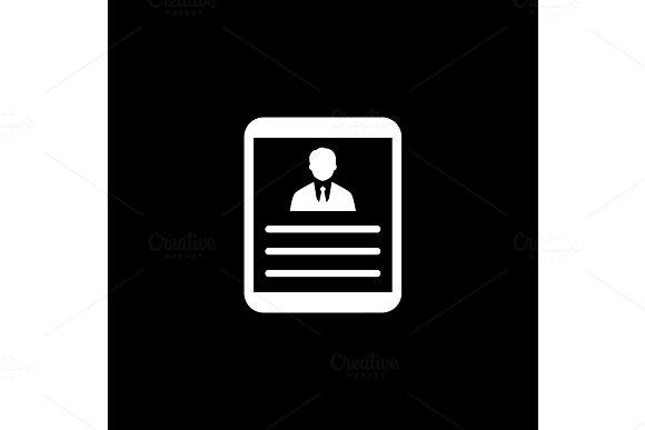 Business Profile Flat Design