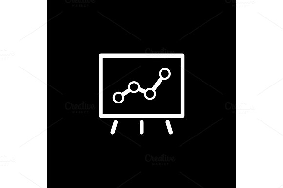 Points Of Growth Icon Business Concept Flat Design