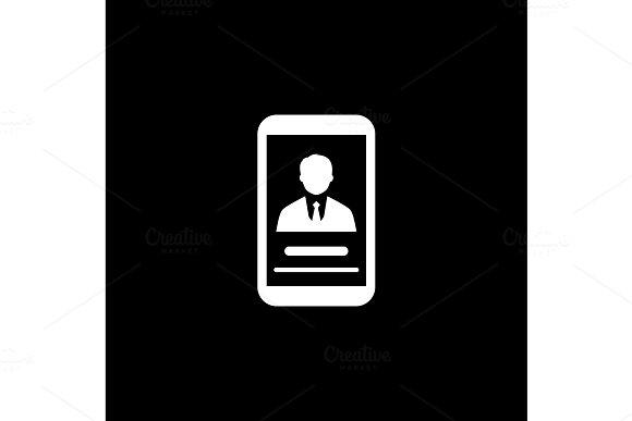 Partner Profile Icon Business Concept Flat Design