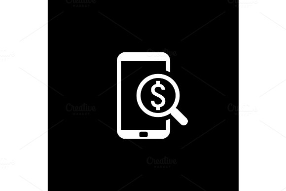 M-Commerce Icon Business Concept Flat Design