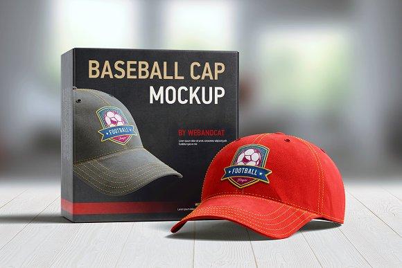 Baseball Cap 3D Mockup