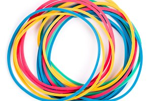 Elastic band isolated