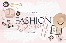 Beauty & Fashion Icon Pack by Diana Hlevnjak in Icons