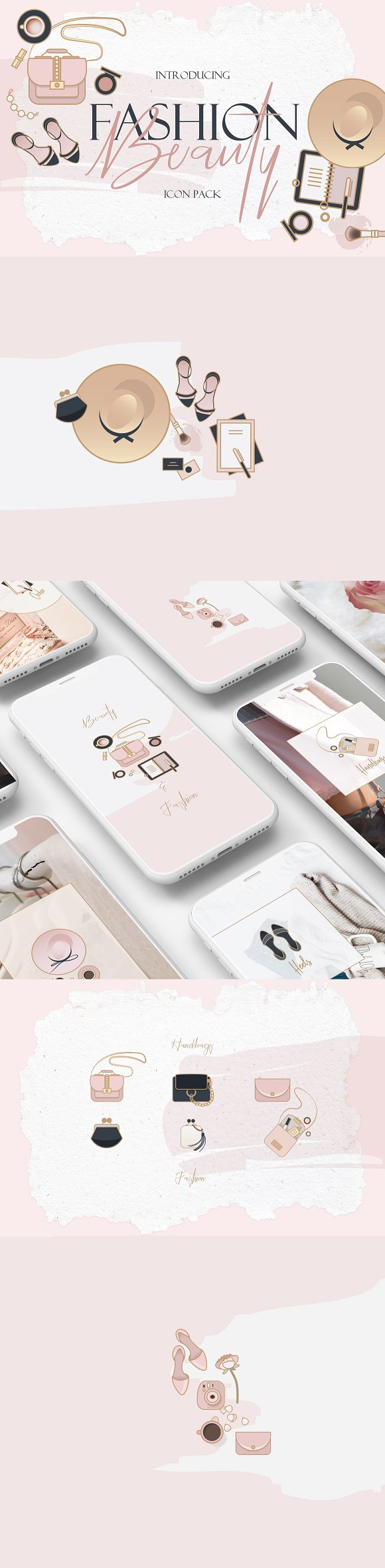 Beauty Fashion Icon Pack