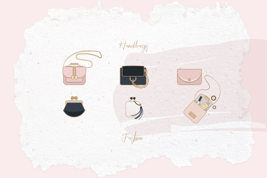 Beauty & Fashion Icon Pack in Graphics - product preview 19