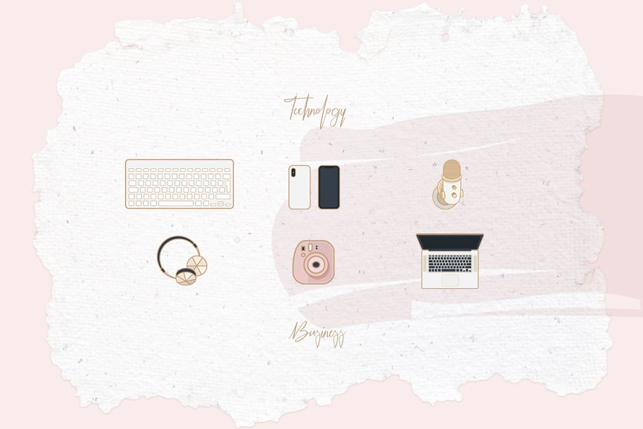 Beauty & Fashion Icon Pack in Graphics - product preview 14