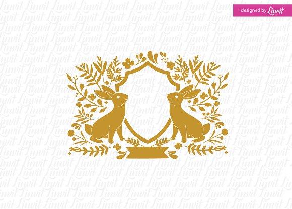 Rabbit Logo Easter Wedding
