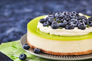 Delicious key lime cheesecake