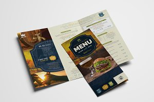 Trifold Pub Menu Template