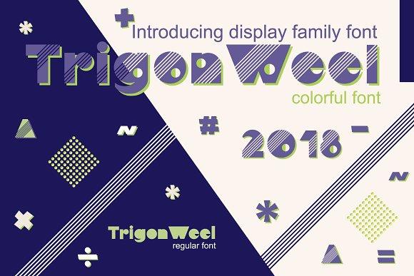 TrigonWeel Color OTF Font