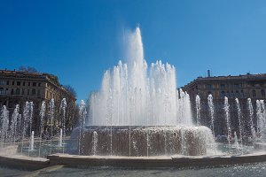 Fountain in Milan