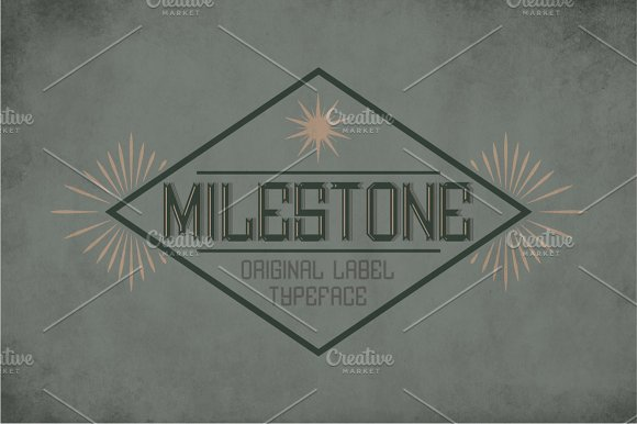 Milestone Vintage Label Typeface
