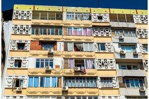 Soviet-era apartment building in centre of Tashkent, Uzbekistan