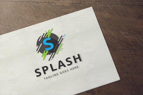 Splash Letter S Logo