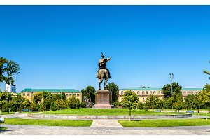Equestrian statue of Amir Timur in Tashkent - Uzbekistan