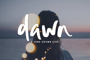 Dawn | Hand Drawn Font