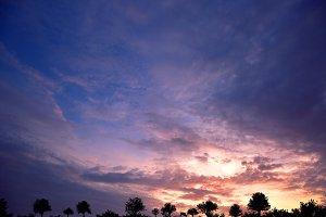 Dramatic sunrise in Deltona Florida
