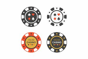 Casino Chips. top view